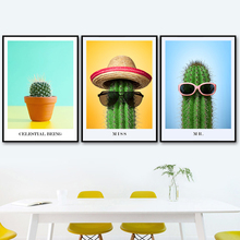 Funny Cactus Potted Tropical Plant Nordic Posters And Prints Wall Art Canvas Painting Pictures For Living Room Home Decor