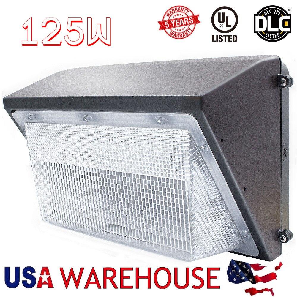 125 Вт led wall обновления света 550 600 Вт ГЭС MH замена лампы для здание дома 100 В 277 В гаражи парковка крыльцо наружного освещения