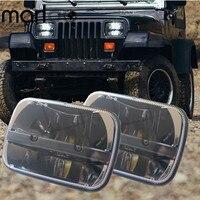 Marloo For Jeep Cherokee XJ Trucks 5x7 Auto Square Led Headlamp 5x7 Inch Led Headlight 6x7