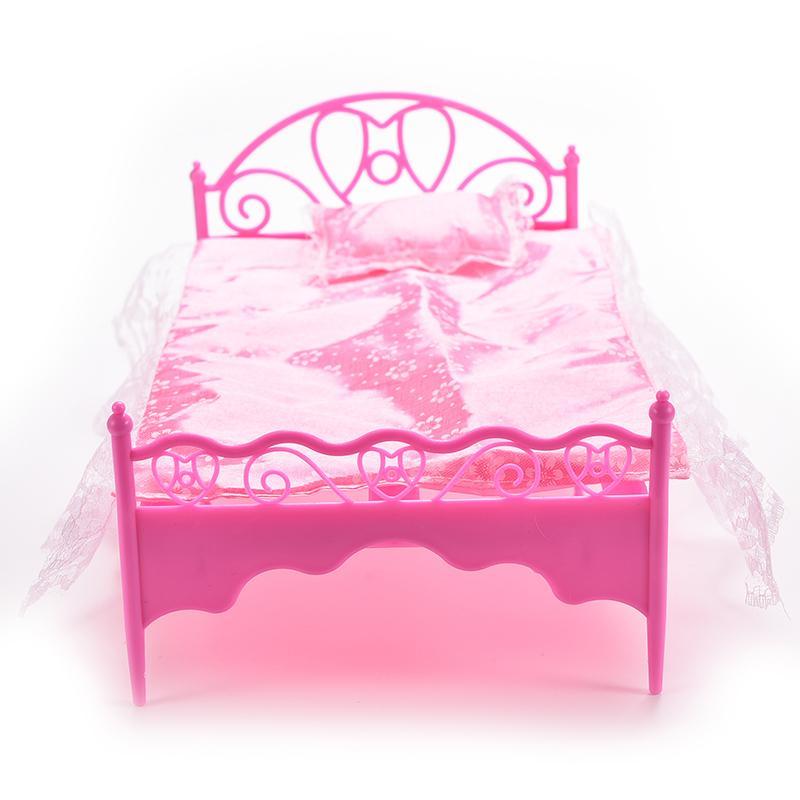1 компл. ночная рубашка и односпальная кровать кукольный домик Мебель и Подушки детские кровати Простыни для Куклы детей Игрушечные лошадки...