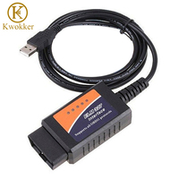2015 New ELM327 With Software V2 1 OBD II OBD 2 Version 1 5a USB Interface