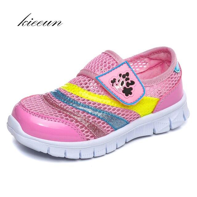 436d41d71 Kieeun детская спортивная обувь дышащая Спортивная обувь для девочек Летняя обувь  для детей сетки спортивные Обувь