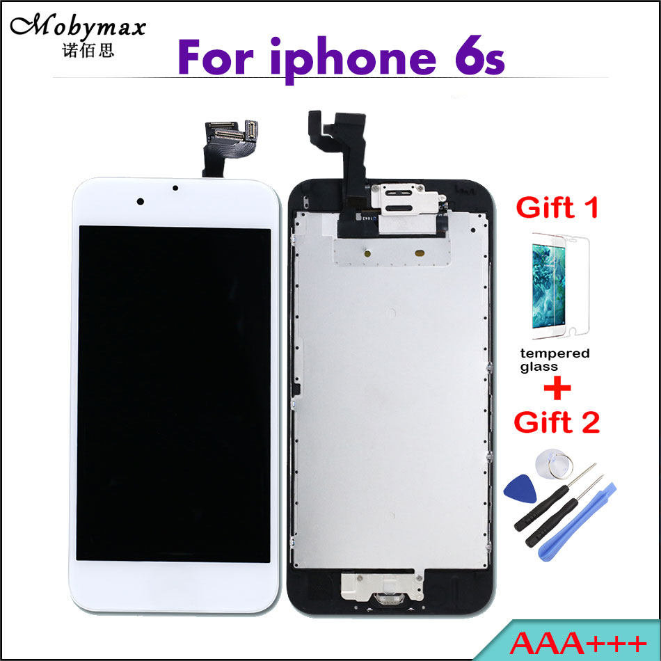 Mobymax AAA+++ lcds screen For iPhone 6S Full Assembly Touch Screen Digitizer Display+Home Button+Front Camera add gifts