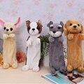 A caneta estudante Coreano das crianças brinquedos de pelúcia cão criativo caneta grande saco de artigos de papelaria Para O Presente das Crianças