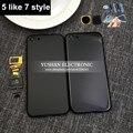 Новый 7 стиль Для Iphone 5 Назад Жилищного как 7 мини Матовый Черный Золотой для Iphone 5 Назад Корпус 7 стиль Джет Черный Синий свободный Дом ключ