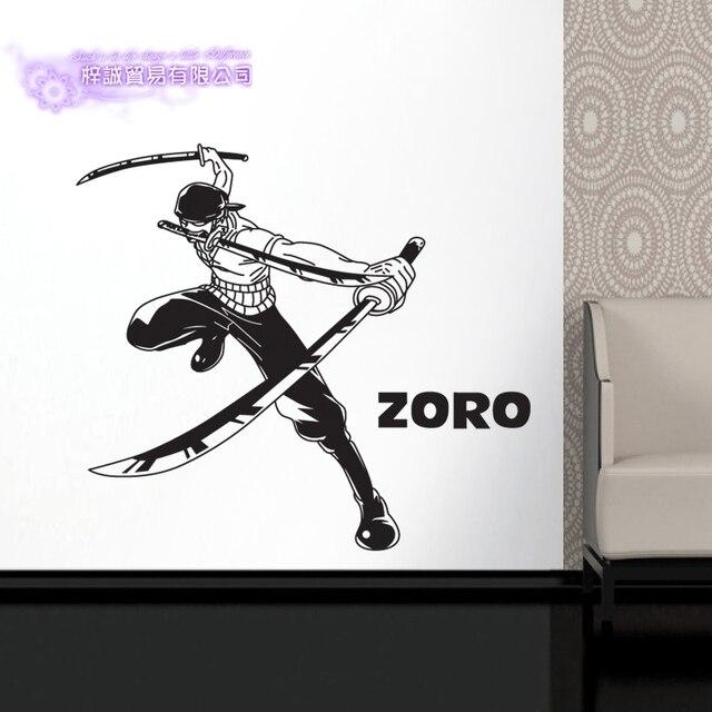 dctal zoro one piece car wall stickers japanese cartoon decals vinyl