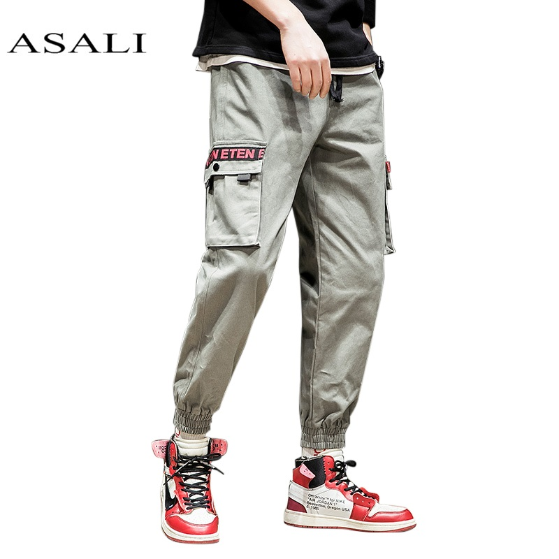 2018 New Men s Printed Black White Stripes Jeans Pants Painted Denim Joggers For Male Fashion