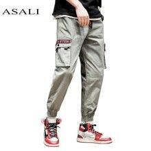 2019 Men Cargo Pants Army Green Big Pockets Decoration Mens