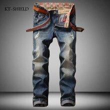 Мужские байкерские джинсы модный бренд твердого человек разорвал Джинсы Джинсовые брюки для мужчин Повседневная брюки хлопок pantalones вакеро hombre