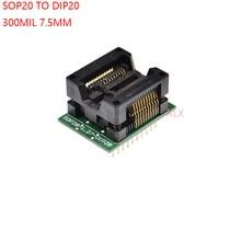 SOIC20 SOIC 20 SOP20 à DIP20, adaptateur de programmeur, largeur du corps 7.5MM, 300mil IC, convertisseur de prise, puce de test