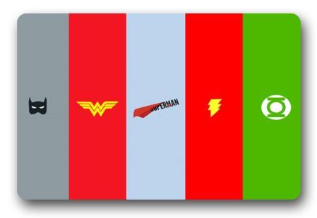 Gentil Custom Batman Doormat Flash Pad Wonder Woman Mat Superman Carpets DC Comics  Bathroom Justice League Rugs
