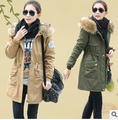 2016 winter thickening female cotton-padded jacket clothes wadded jacket women's fur collar coat