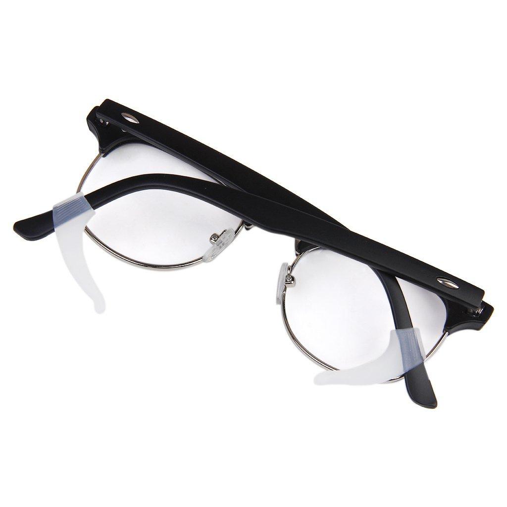 1 Pair Eyeglasses/Sunglasses/Spectacles Eyewear Ear Hook Lock Tip Holder (White)