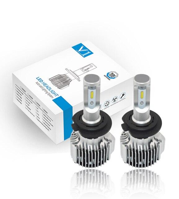 US $33 6 20% OFF 2pcs ZES Chips! 55W Powerful Turbo H7 Car LED Headlight  Kit Bulbs for Yamaha YZF R1 2007 2014/ YZF R6 2013 2015-in Car Headlight