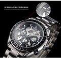 Vogue Businessmen Skeleton Automatic Watches Fashion Men Dress Wristwatches 316L Band Sapphire Luminous Hands Relojes 3ATM NW966