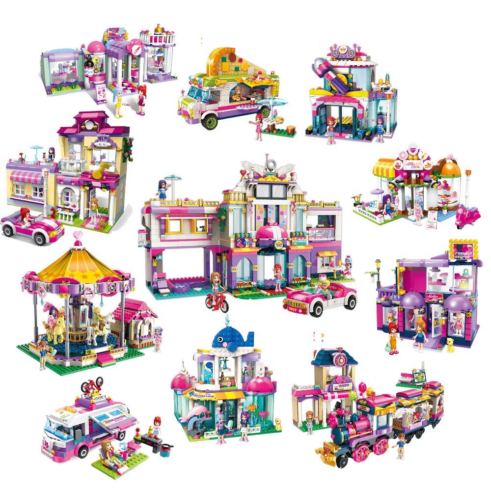 Friends Building Block Girls Enlighten Cherry Ice Carnival City Town Star Training Center Educational Bricks Toy Girl Gift