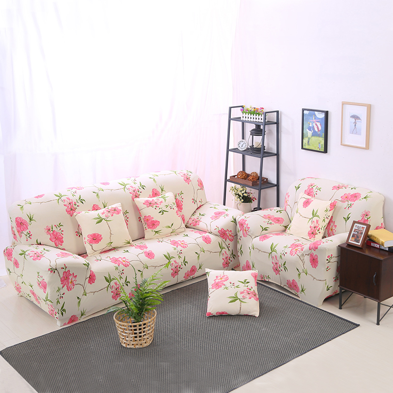 Pink Floral Print Sofa Cover Clean Home Decoration Bright and Generous Sofa Seat Suit Brings Comfortable Experience 2018 New