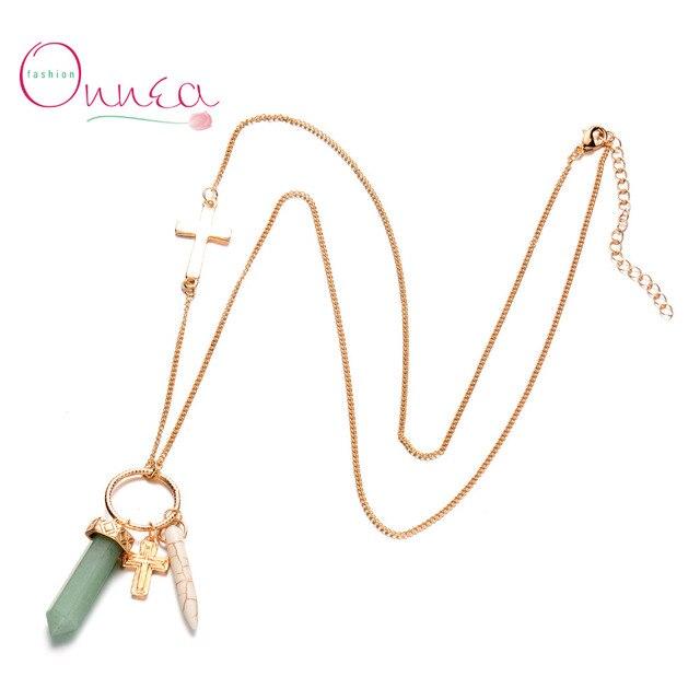 Onnea new opal stone cross pendants necklace for women gold chains onnea new opal stone cross pendants necklace for women gold chains six prism quartz exclusive sweater aloadofball Gallery