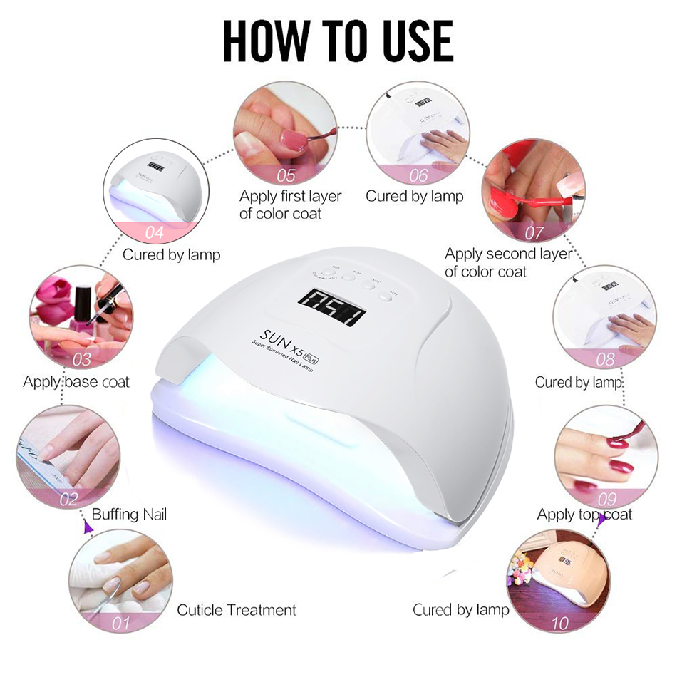 Лед лампа ice lamp nail dryer lamp with 54w/80w max free shipping CE FC ROHS approved image