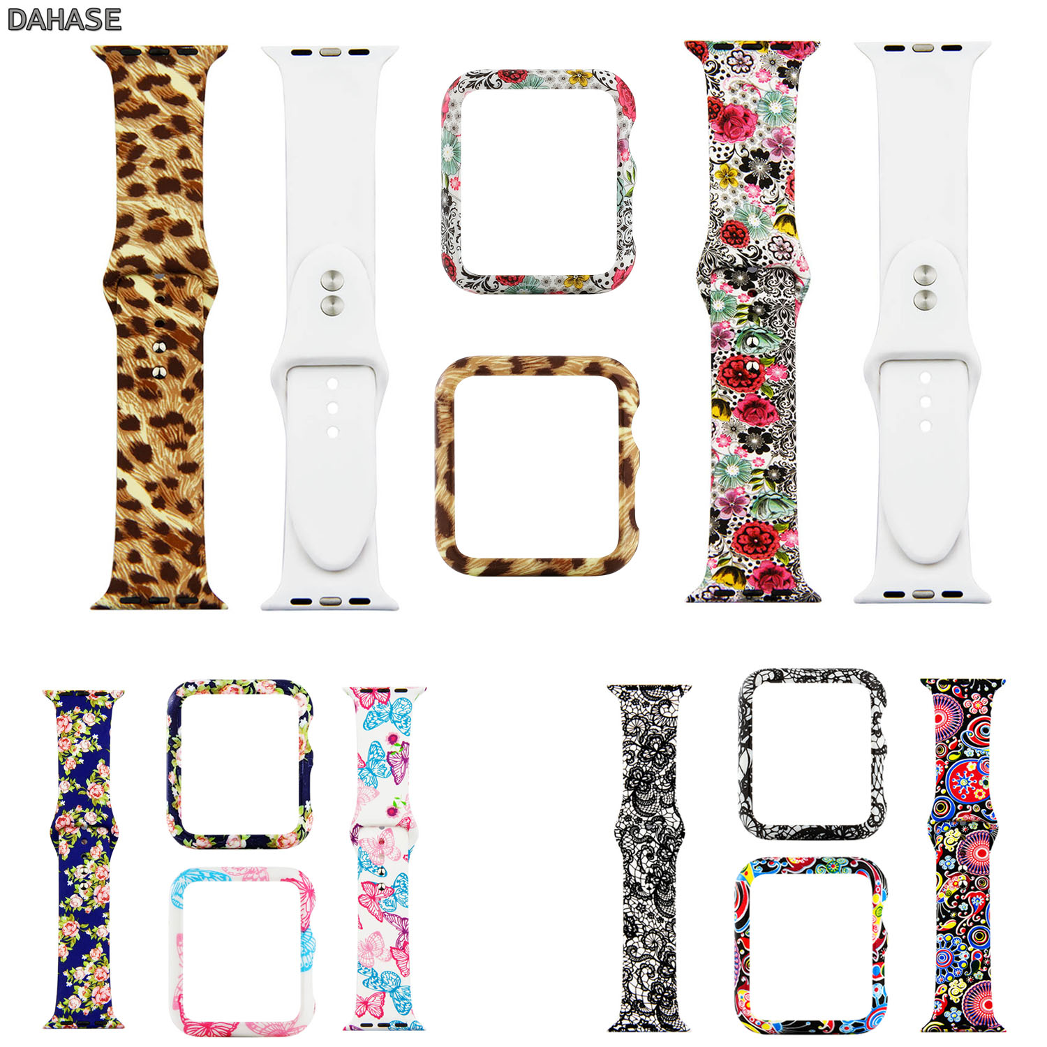 Sport Silicone Band For Apple Watch Band 44mm 40mm Series 4 Cover For IWatch Strap 42mm 38mm Series 3/2/1 Watch Band Case Set