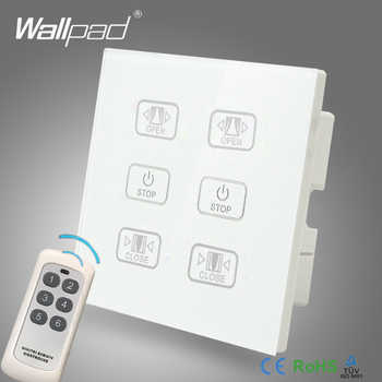 Hot Sales Double Remote Curtain Switch Wallpad White Glass 6 Gangs 2 Curtain Window Blind Wireless Remote Control Switch - DISCOUNT ITEM  20% OFF All Category