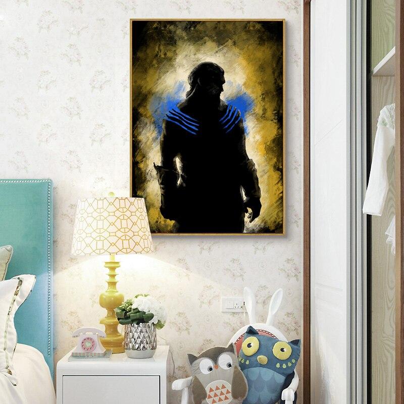 Современный простой ретро ТВ Игра престолов Кхал Дрого холст картины Книги по искусству Принт плакат изображения стену Спальня украшения Д...