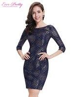 Ever Pretty Casual Dresses AP05321NB Women S Elegant Round Neck Half Sleeve Short Navy Blue Casual