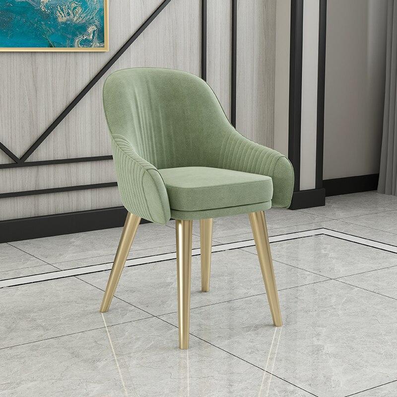 Скандинавский свет роскошный стул для столовой Современный чистый красный стул домашний дизайн ресторана кресло молочный чай кресло для отдыха - Цвет: 3