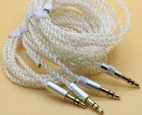 3 5mm Silver Plated Transparent High Quality DIY Earphone Audio Cable Repair Upgrade Wire For