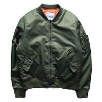 Men Bomber Jacket Harajuku Solid Color Army Green Windbreaker Jackets Male Winter Pilot Plus Size 5XL Chaquetas De Moto Hombre