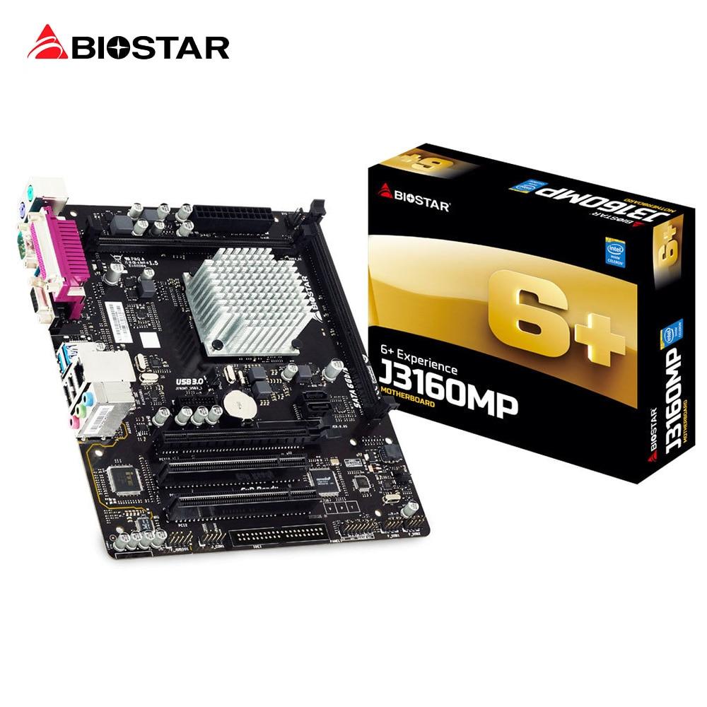 BIOSTAR Micro ATX Motherboard J3160MP Quad Core CPU Set Plate Integration Quad Core Computer Motherboard J3160 Support DDR3