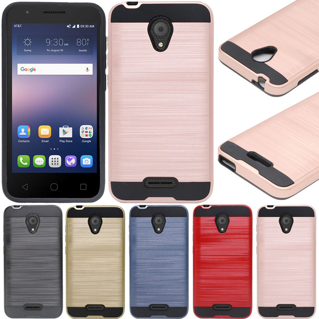 US $1 97 16% OFF|Carbon Fiber Hybrid Brush Armor Case Dual Layer Anti Shock  Cover For Alcatel idealXCITE 5044R / Verso / Cameo / Raven LTE A574BL-in