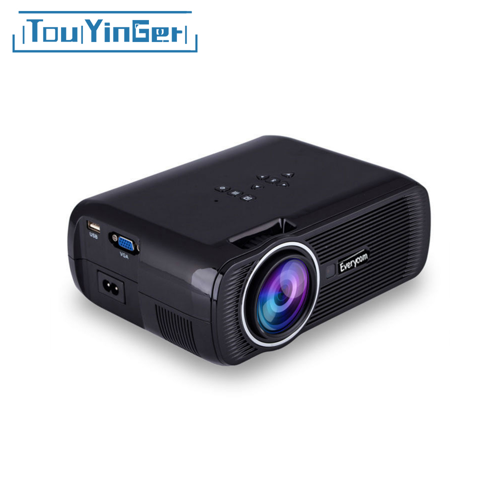 Everycom x7 portable mini projector hdmi lcd home theater for Miniature projector