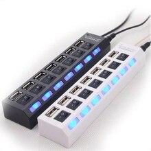 Горячая продажа USB зарядное устройство 7USB многопортовый компьютер USB разветвитель для телефонов