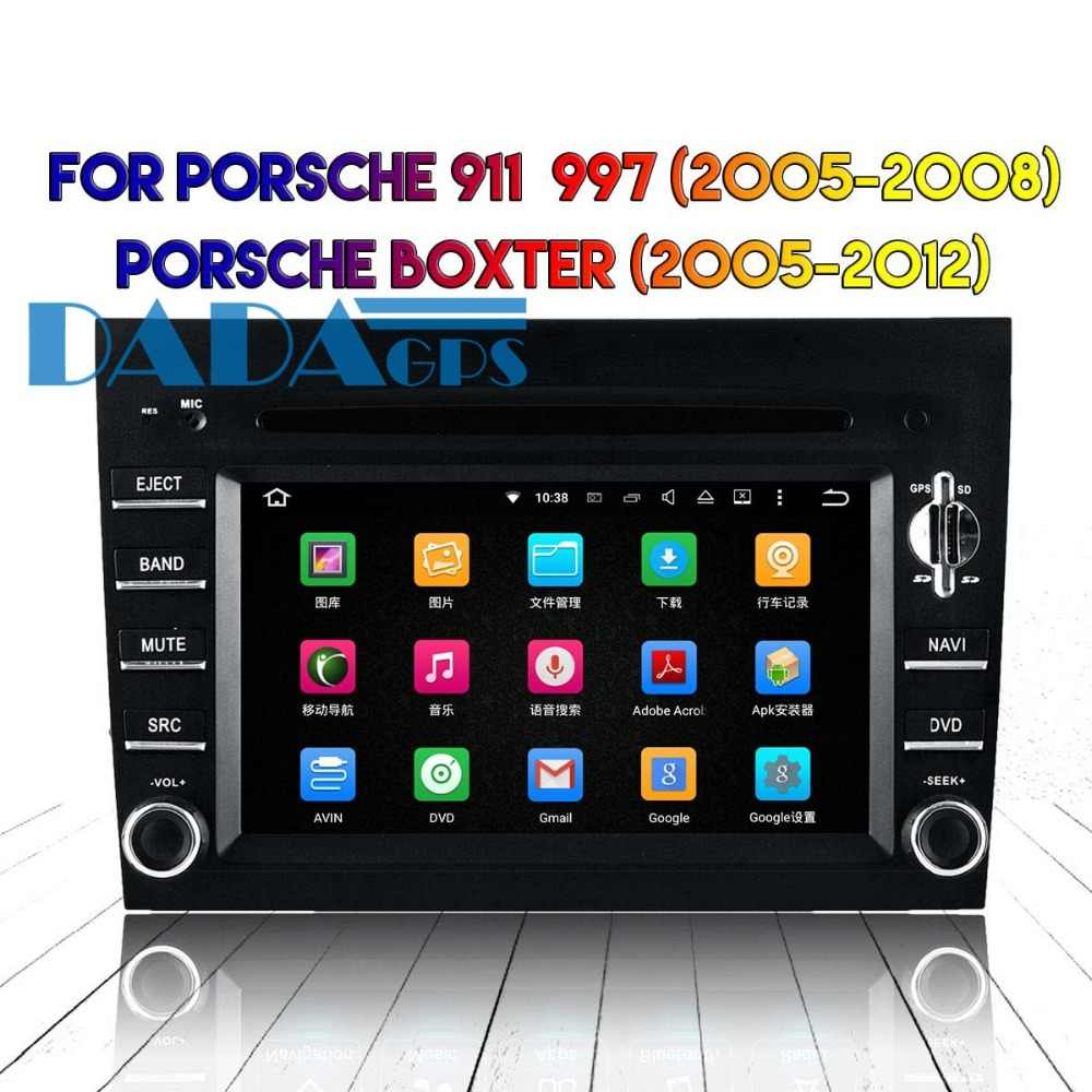 Android 8.0 7.1 rádio do carro estéreo gps navi para porsche 911 997 cayman 2005-2008 boxter 2005-2012 carro dvd player multimídia áudio