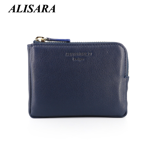 Women Coin Purse Zipper wallet Genuine Leather monederos mujer monedas change Purses key wallets credit card holder coin Pouch