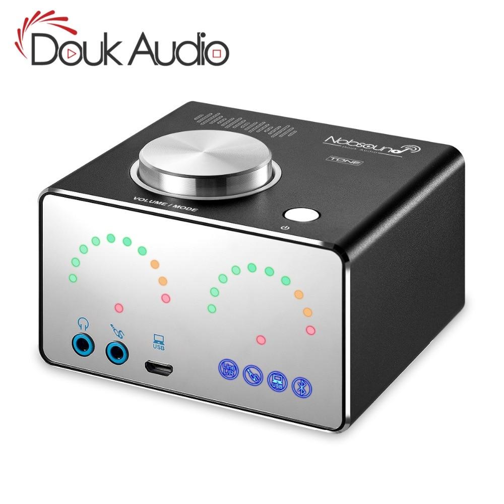 Douk audio HiFi Desktop Integrated Digital Power Amplifiers Home Audio Mini Bluetooth 4.2 Stereo Headphone Amp USB Sound Card douk audio mini bluetooth 4 2 desktop integrated hifi tpa3116 digital power amplifiers stereo usb sound card headphone amp