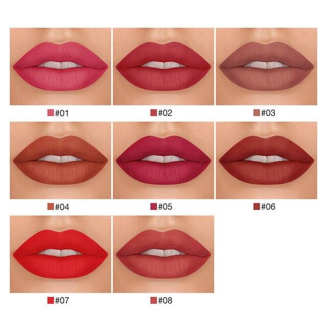 BANXEER Lipgloss 3pcs/Set Matte Lip Gloss Waterproof Long Lasting Velcety Matte Liquid Lipstick Makeup Lips Cosmetic 4