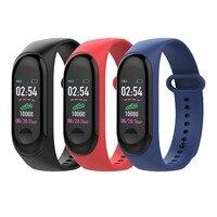 Schermo a colori Smartwatch di Frequenza Cardiaca Monitor di Pressione Sanguigna Wristband Fitness Tracker wristband Per Il Iphone Xiao mi pk MI fascia 3