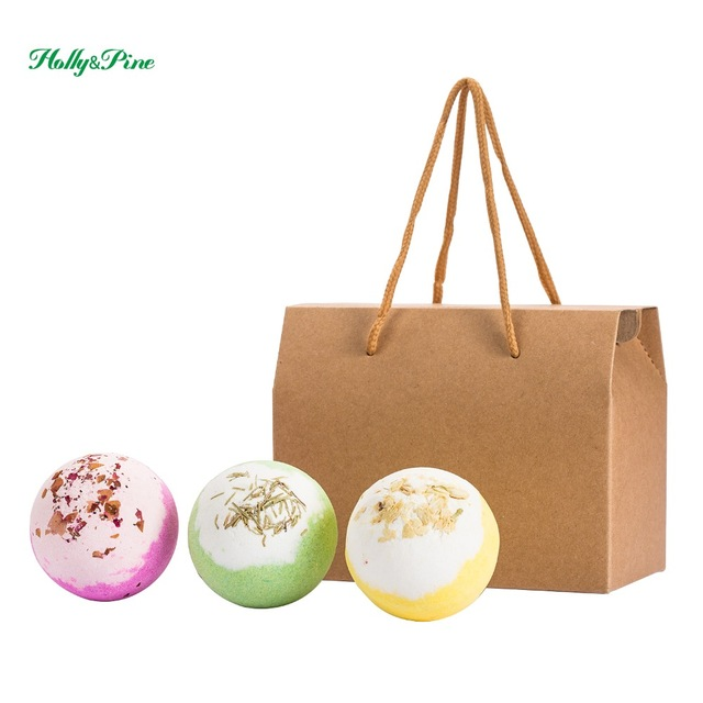 3X120g bath bombs, luxury bath experience , aromatic scents, moisturizing ingredients, handmade, gift sets.