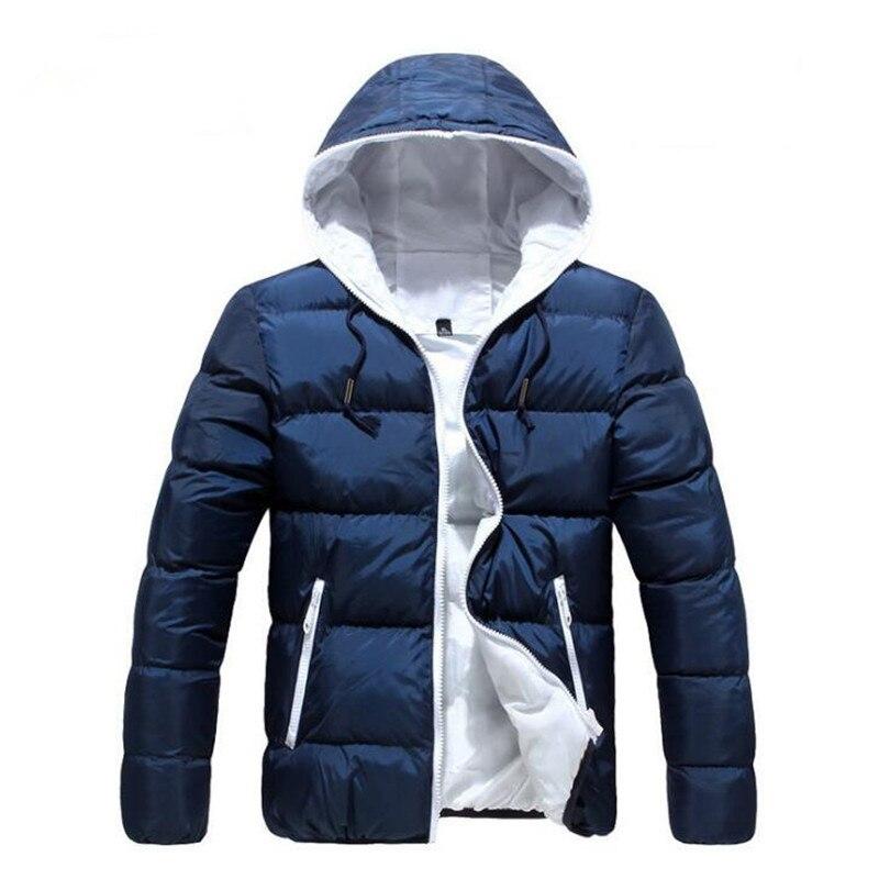 Dropshipping 2019 Men Winter Casual New Hooded Thick Padded Jacket Zipper Slim Men And Women Coats Men   Parka   Outwear Warm XXXL