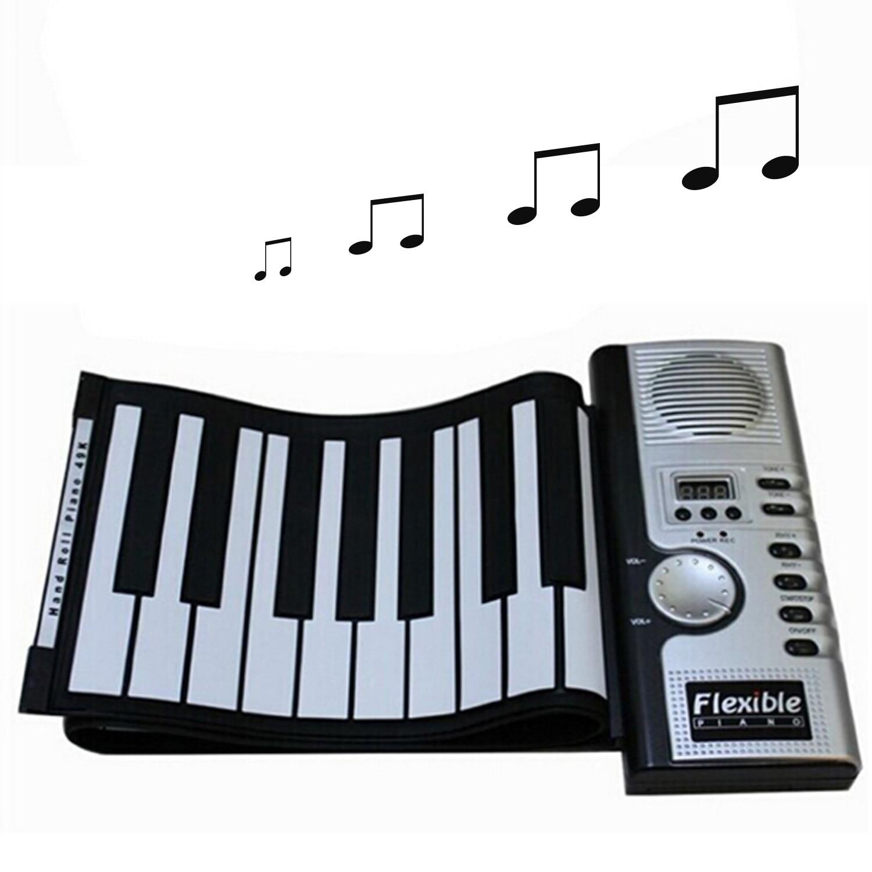 61 clés Portable pliable USB MIDI numérique orgue électronique retrousser clavier Piano Instruments de musique pour les enfants débutants