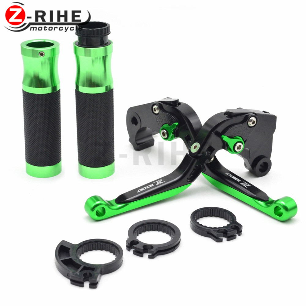 Handle Hand Grips Folding Brake For Kawasaki z1000 2003 2004 2005 2006 adjustable&extendable brake clutch levers & Hand Grips new cnc labor saving adjustable right angled 170mm brake clutch levers for kawasaki z1000 2003 2004 2005 2006