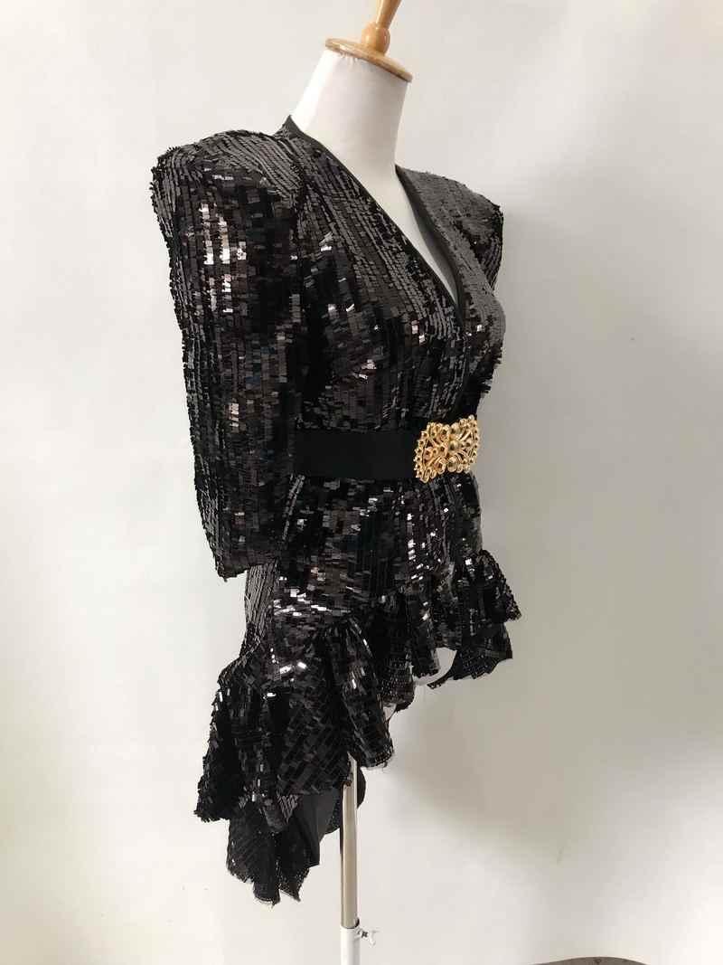 スパンコールタキシード歌手のドレスの衣装ステージ衣装ナイトクラブ Dj 絶賛衣装パフォーマンス衣装ダンス衣装