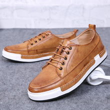 2017 En Cuir Printemps Chaussures Up Respirant Hommes Casual Chaussures Nouvelle Mode Designer Chaussures Hommes
