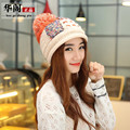 FREE SHIPPING New Classic Tight Knitted Fur Hat Women Cap Winter Beanie Headgear Headdress Head Warmer Top Quality 5 Colours
