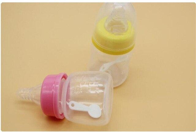 Cute Baby bottle Infant Newborn Cup Children Learn Feeding Drinking Handle Bottle kids Straw Juice water Bottles60ml 1ps nz17 2