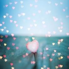 Laeacco фотографии фонов Любовь Сердце деревянная доска детские живопись День Святого Валентина узор фотографический фон фотостудия