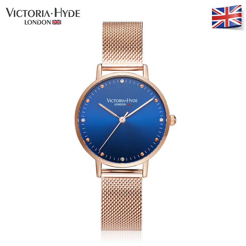 Victoria Hyde  Women Watches Rose Gold Luxury Brand Stainless Steel Band Ladies Dress Quartz Wristwatches Waterproof Gift Box onlyou brand luxury fashion watches women men quartz watch high quality stainless steel wristwatches ladies dress watch 8892
