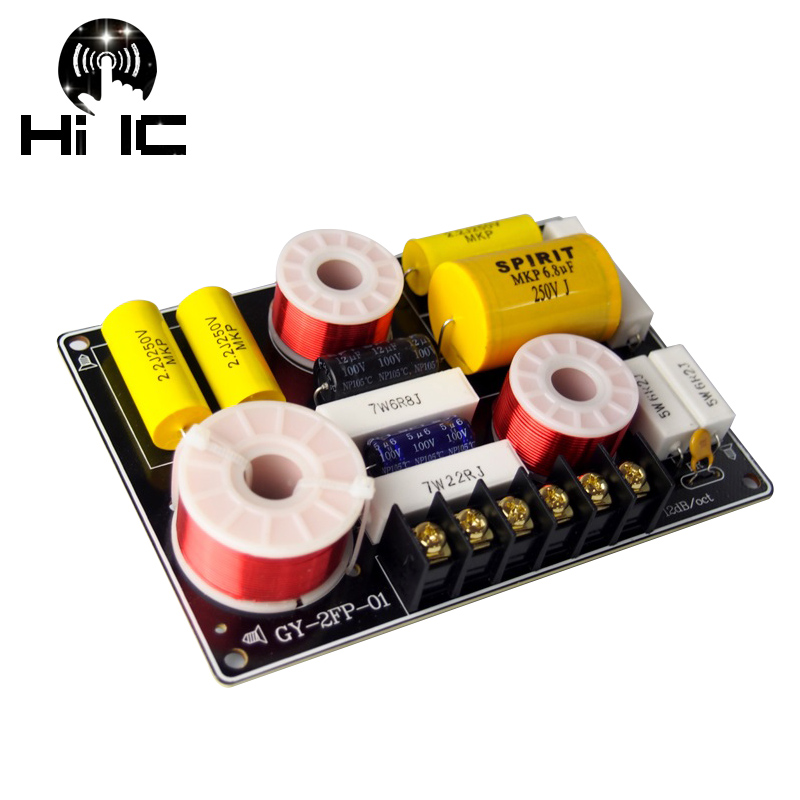 2 Way Hi-Fi Audio Treble + Bass 3 Units Crossover Speaker Frequency Divider Stereo Crossover Filters 12dB 150W 2700Hz
